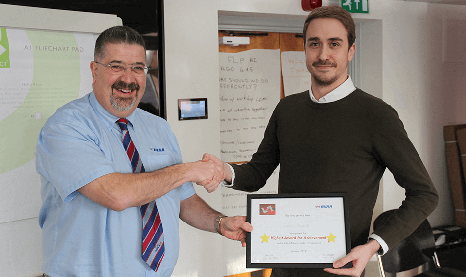 Eddie Sheard Receiving Future Leaders Certificate