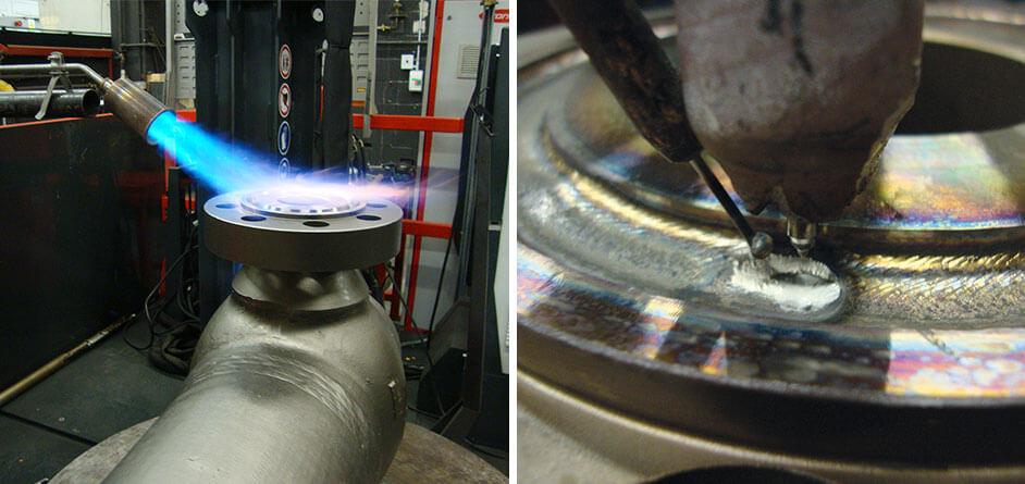 Valve weld repair