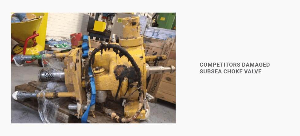competitors damaged subsea choke valve