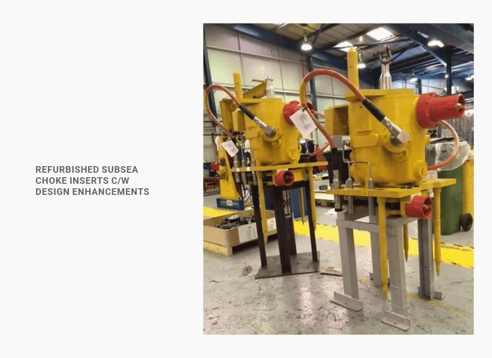 refurbished subsea choke inserts c/w design enhancements