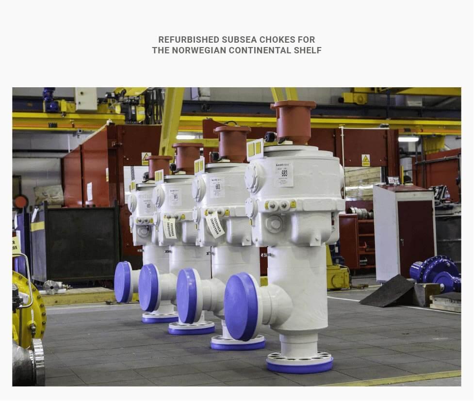 refurbished subsea choke valves