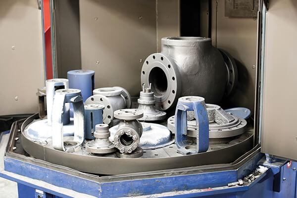 valve shotblasting machine