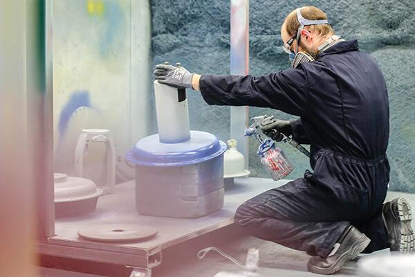 spray painting an actuator